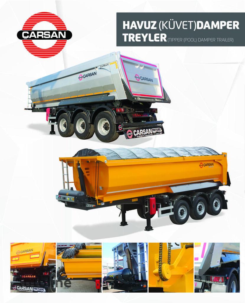 new CARSAN KUVVET TİPİ DAMPER tipper semi-trailer