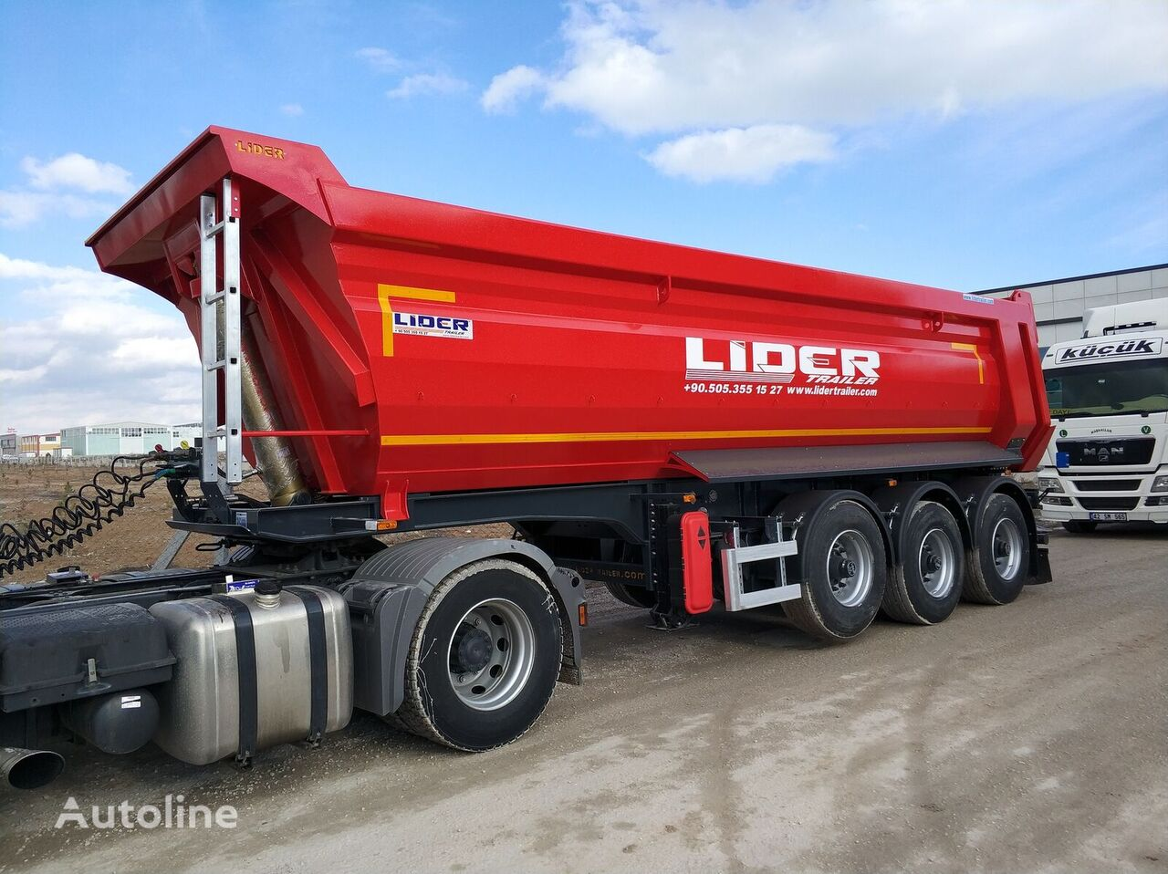 new LIDER 2021 NEW READY IN STOCKS  DIRECTLY FROM MANUFACTURER COMPANY AVA tipper semi-trailer