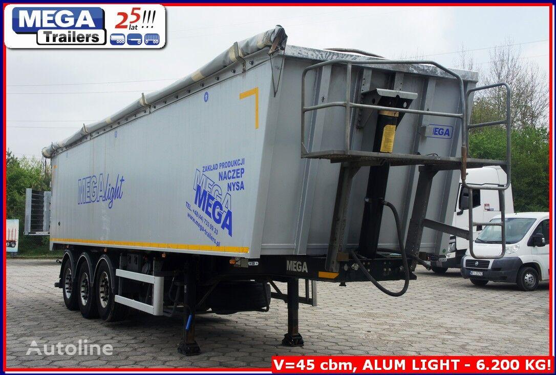 MEGA 45 m³ tipping semi-trailer for grain LIGHT - 6.250 KG !! tipper semi-trailer