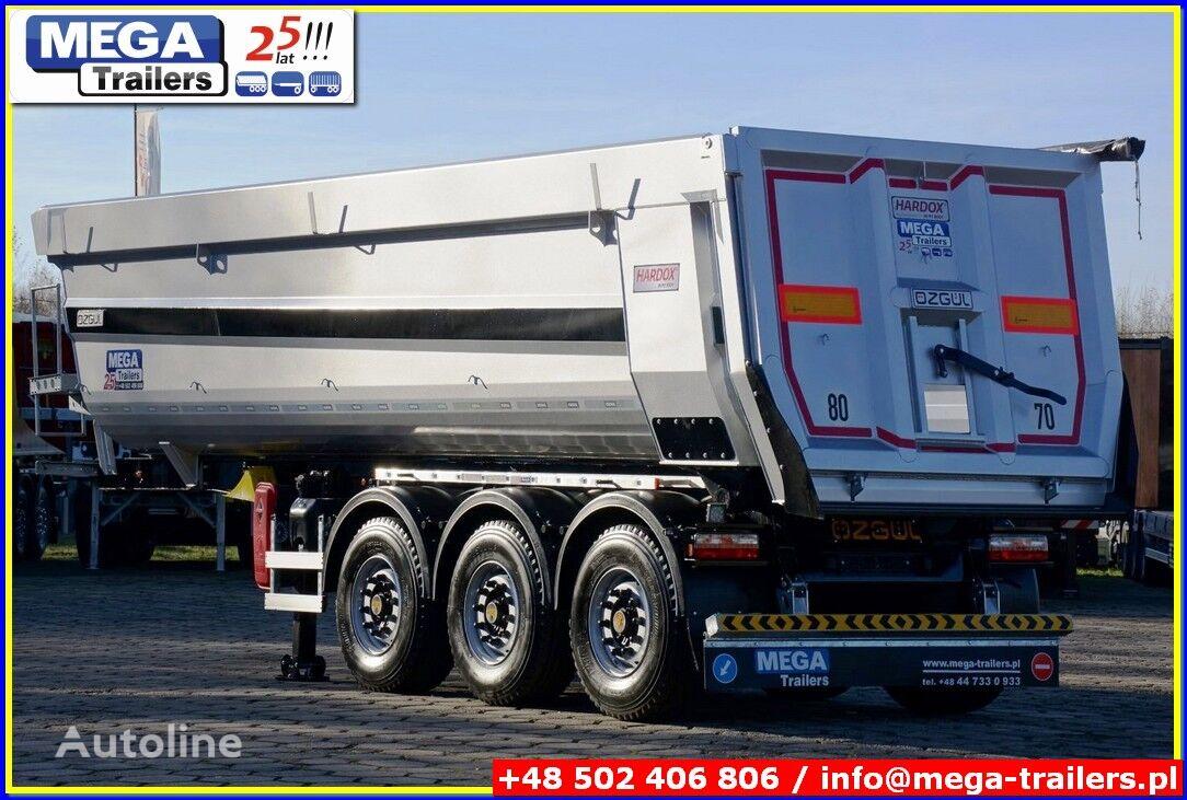 new MEGA Trailers 33/35 m³ Stahl Kipper mit Klappe fur Gerole & Stei tipper semi-trailer