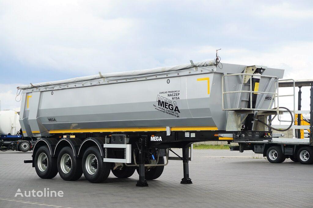 MEGA / WYWROTKA / RYNNA / STALOWA / 26 M 3 / OŚ PODNOSZONA / MAŁO UŻY tipper semi-trailer