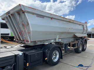 MEILLER 2 axle kipper chassis and body steel tipper semi-trailer