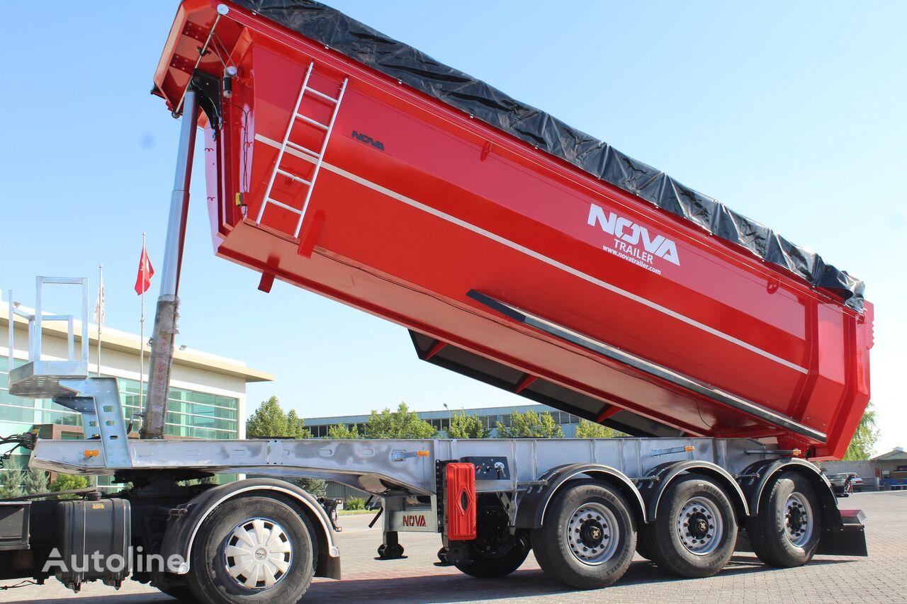 new NOVA TIPPER SEMI TRAILER 24 to 30 M3 tipper STEERING AXLE    tipper semi-trailer
