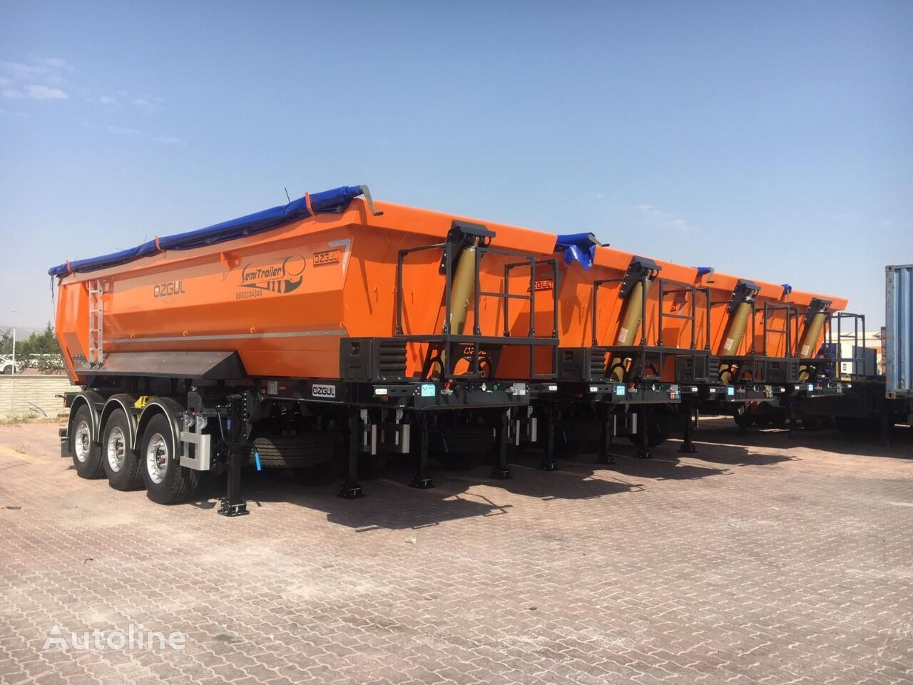 new OZGUL samosval tipper semi-trailer