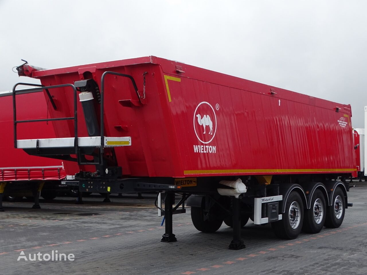 WIELTON TIPPER - 33 M3 / ALUMINIUM MULD / LIFTED AXLE / 5 000 KG !!! /  tipper semi-trailer