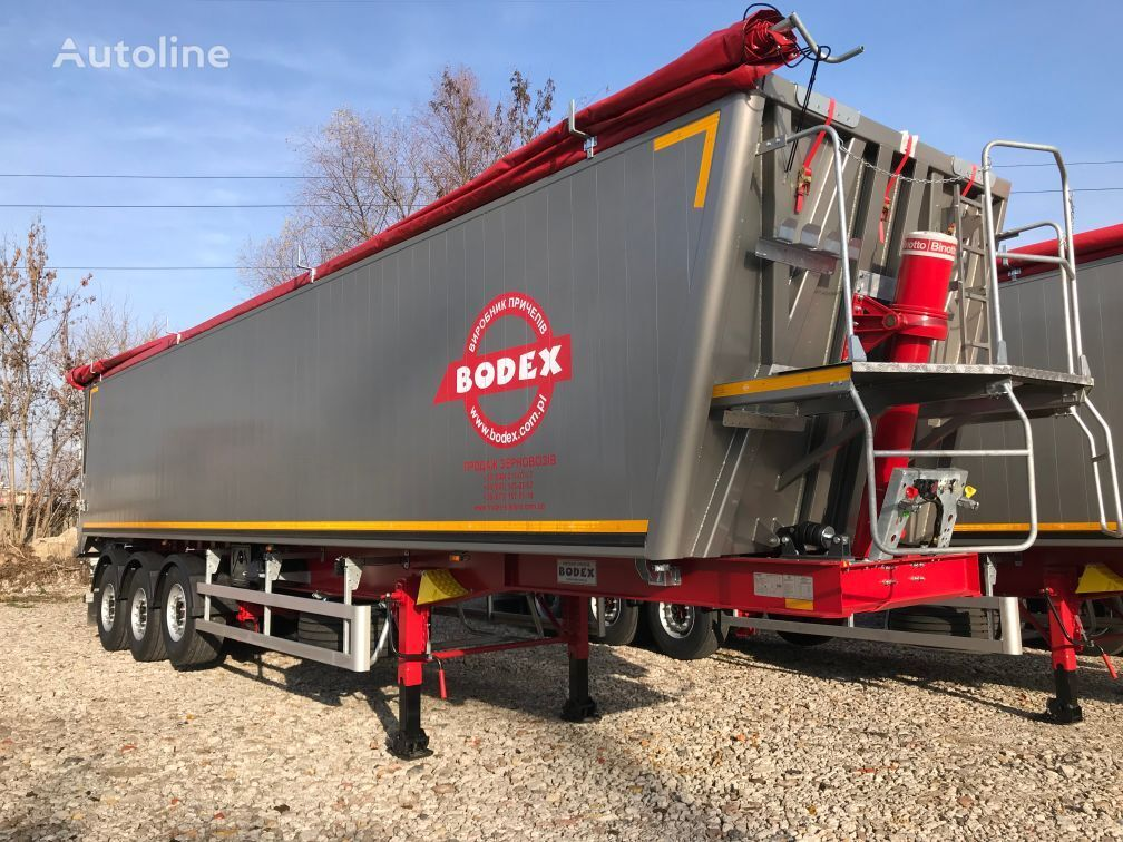 new BODEX 55m3 alyuminievyy tipper semi-trailer