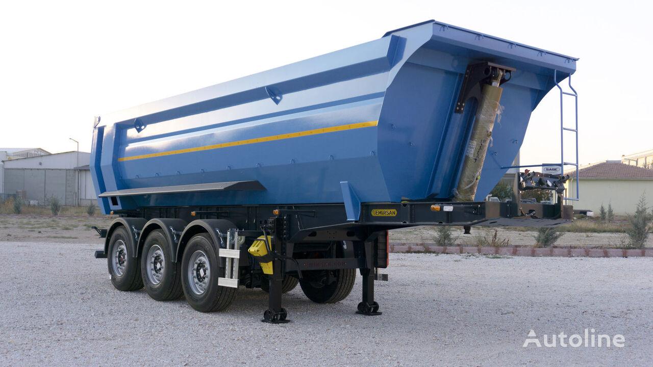 new EMIRSAN 2021 Brand New   Half Pipe Hardox  tipper semi-trailer