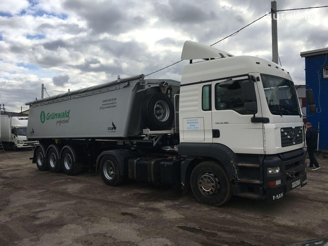new GRUNWALD 27 Al tipper semi-trailer