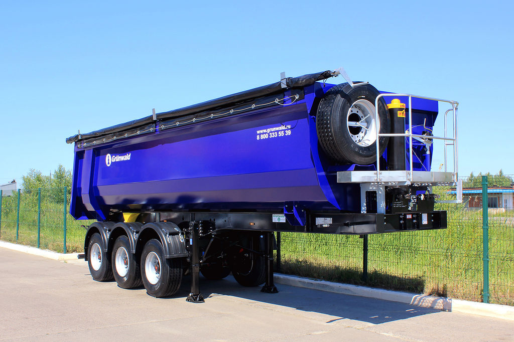 new GRUNWALD Tipper semitrailer 27-31-34 m3 tipper semi-trailer