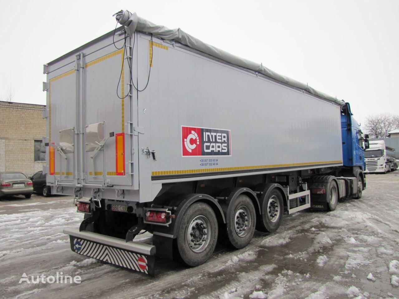 Inter Cars 45m3 NOVIY originalniy alyuminieviy kuzov tipper semi-trailer
