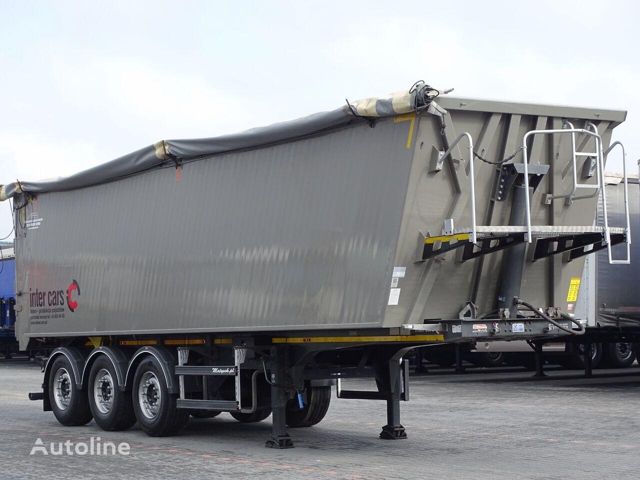 Inter Cars TIPPER 50 M3 / WEIGHT: 6 100 KG / FLAP-DOORS / LIFTED AXLE /  tipper semi-trailer