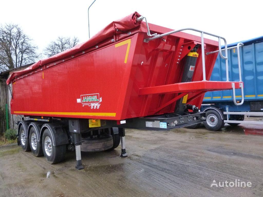 new JANMIL 28 m³  aluminium - SAF - podłoga  10mm !! tipper semi-trailer