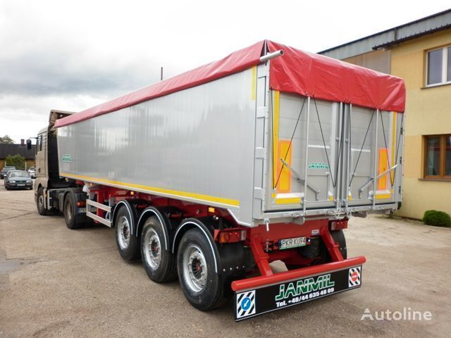 new JANMIL 50 cbm ALU, SAF -LIGHT 5800 kg !!! tipper semi-trailer