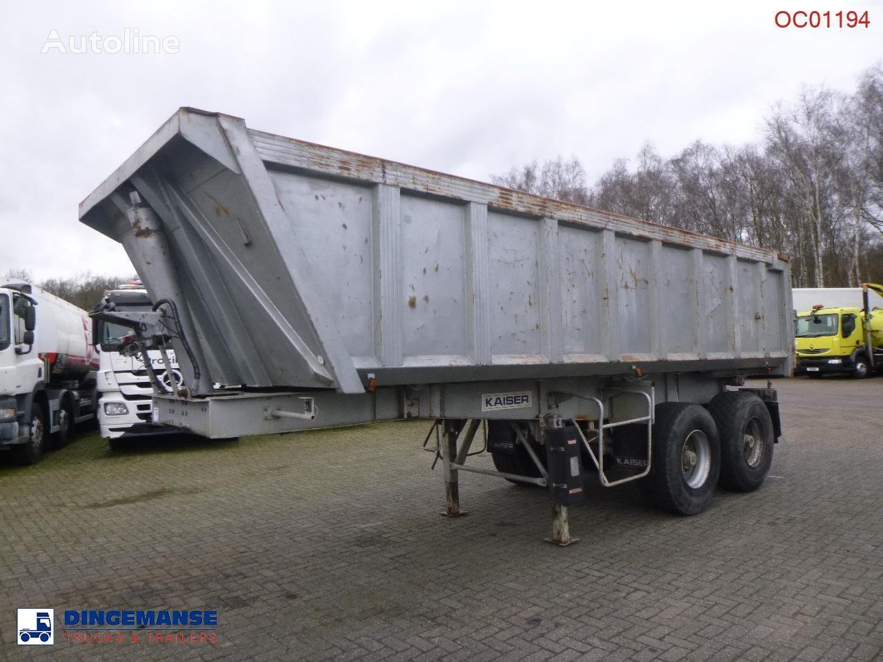 KAISER Tipper trailer steel 24 m3 + tarpaulin tipper semi-trailer
