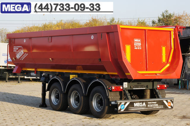 new KARGOMIL 25 - 28 m³ HALF-PIPE / steel tipper - DOMEX 5/7 mm / SUPER STRON tipper semi-trailer