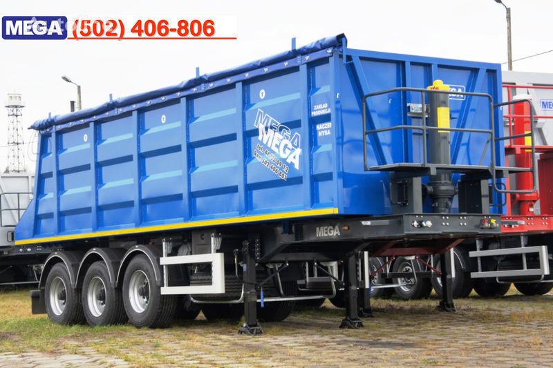 new MEGA 35/9200 kcc - camosval 35 kub.m., pama k tyagachu 6x4, klapan! tipper semi-trailer