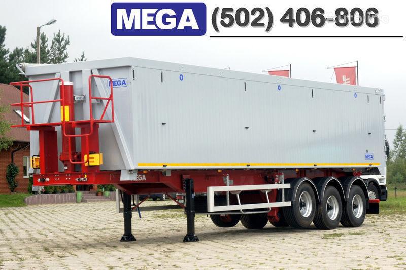 new MEGA 50/11300 KD - camosval 50 kub., pama k tyagachu 6x4, VYSOTA 3,00 m tipper semi-trailer