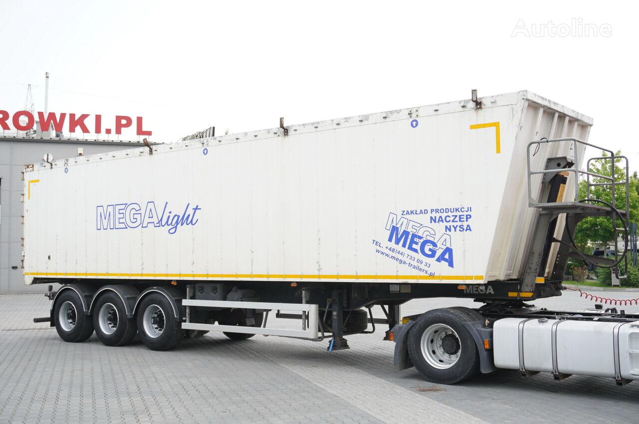 MEGA MNL 35.5t , 60m3 , ALUMINIUM , flap doors , load 29t , 3X MEGA a tipper semi-trailer