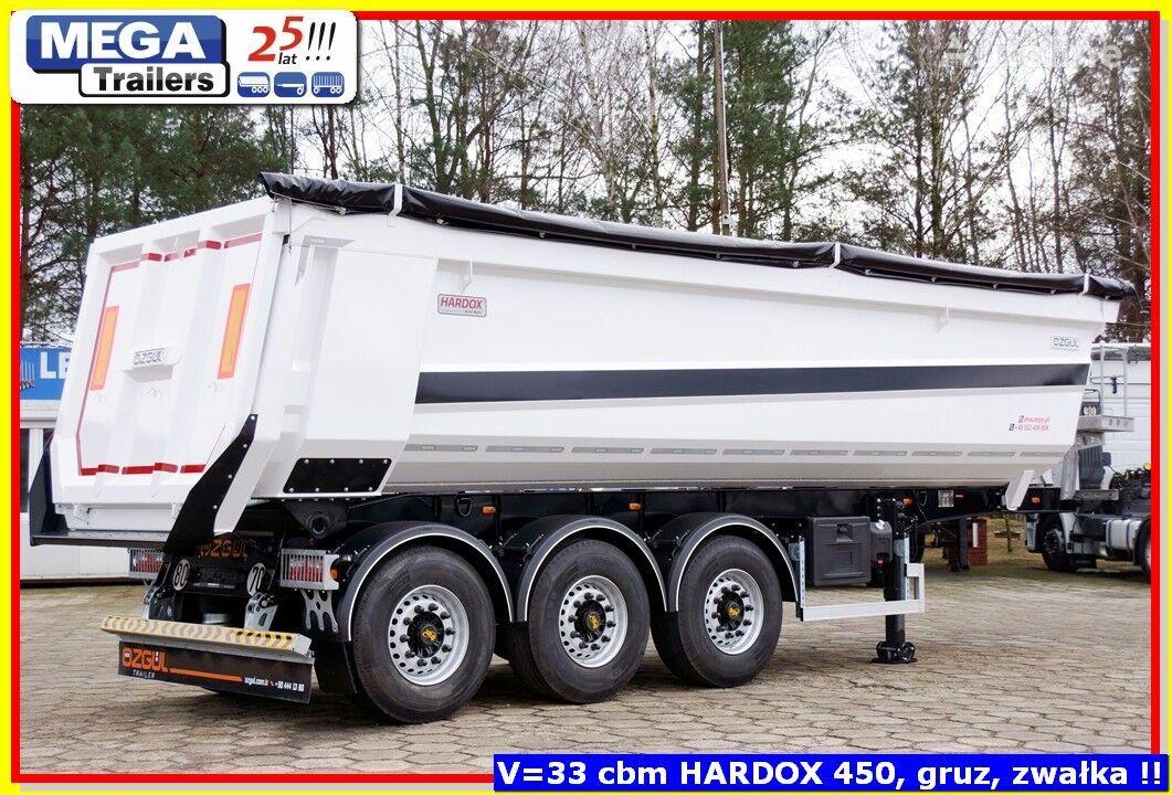 new OZGUL 33-35 m³ MEGA Trailers Stahl Rinne, FUR Geröll & Bitumen FERTIG tipper semi-trailer