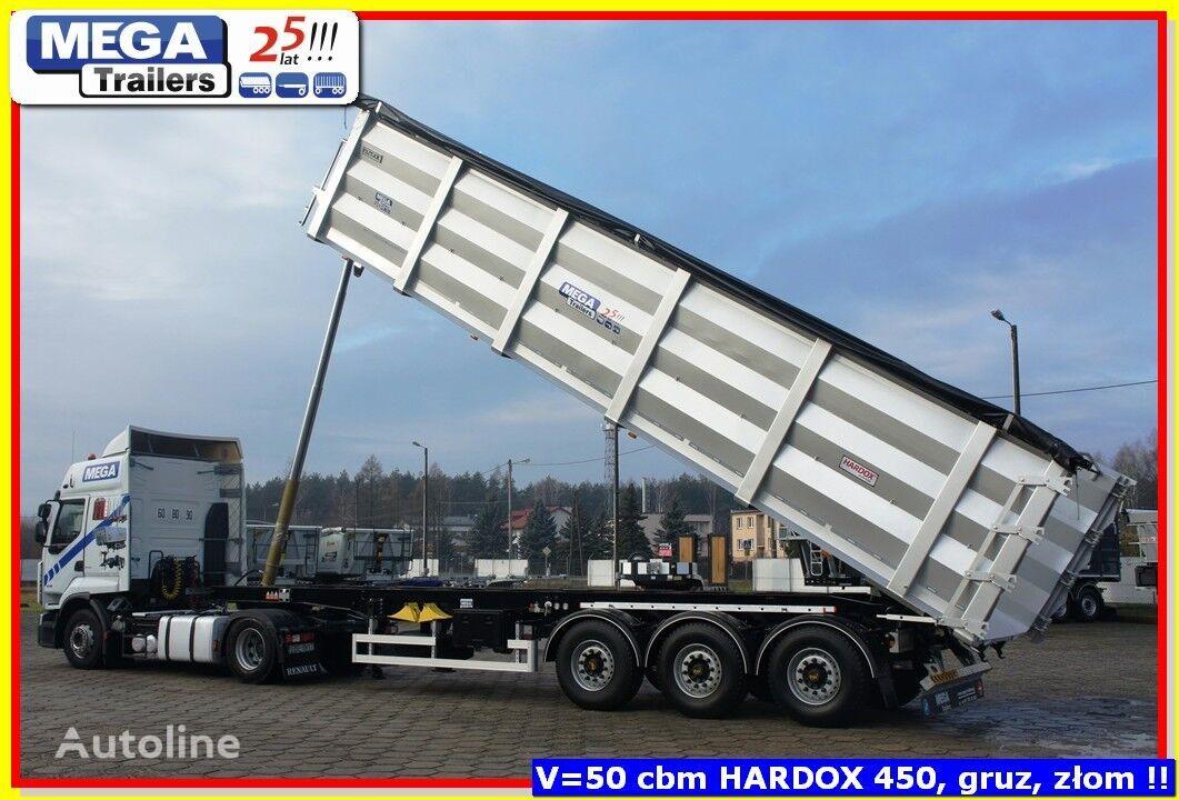 new OZGUL  52 m³ MEGA Trailers scrap carirer new ZIG-ZAG / HARDOX 450 body tipper semi-trailer