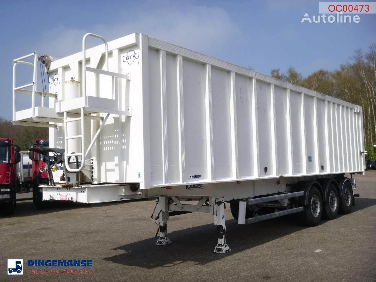 ROBUSTE Tipper alu / chssis steel 49 m3 /waterclosed body tipper semi-trailer