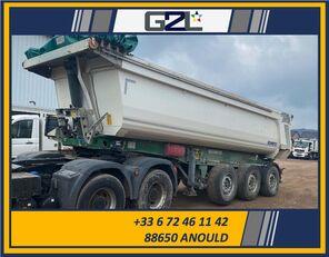 damaged SCHMITZ CARGOBULL SGF*S3 3 ESSIEUX 24M³ *ACCIDENTE*DAMAGED*UNFALL* tipper semi-trailer