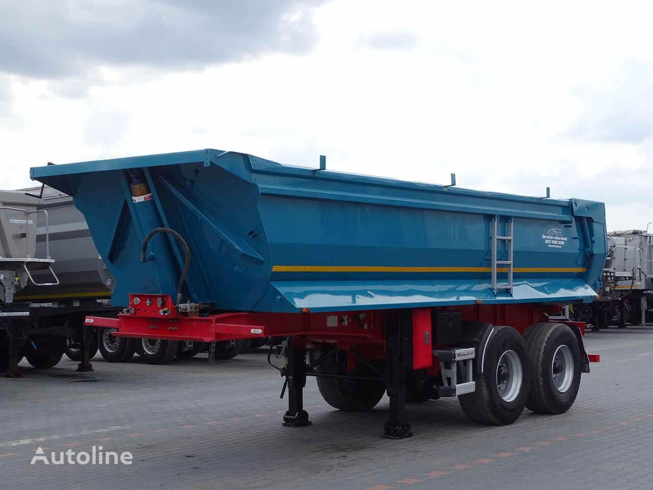STAS CIMAR / TIPPER 20 M3 / WHOLE STEEL / 2 AXES / LIFTED AXLE /  tipper semi-trailer