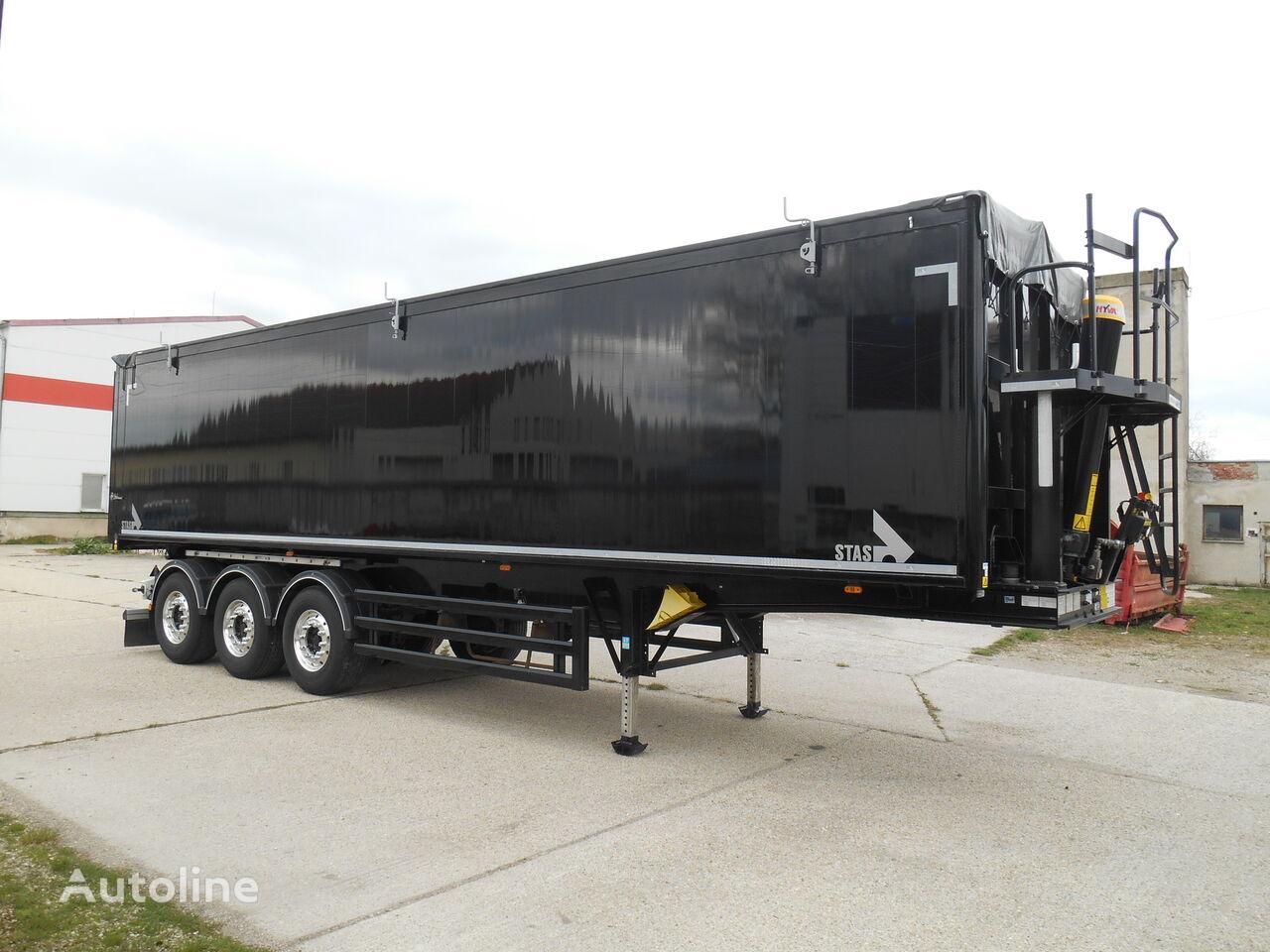 STAS S 300 CX 57m³ SMART BOX LIFTING AXLE ADR: EX II, FL, OX, AT tipper semi-trailer
