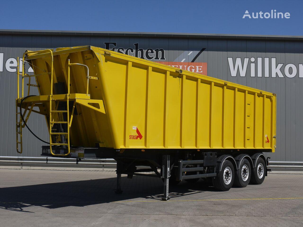 STAS SA 336 K, 47m³ Alumulde, Luft/Lift tipper semi-trailer