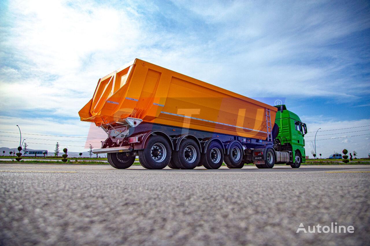 new STU 4 AXLE TIPPER TRAILER tipper semi-trailer
