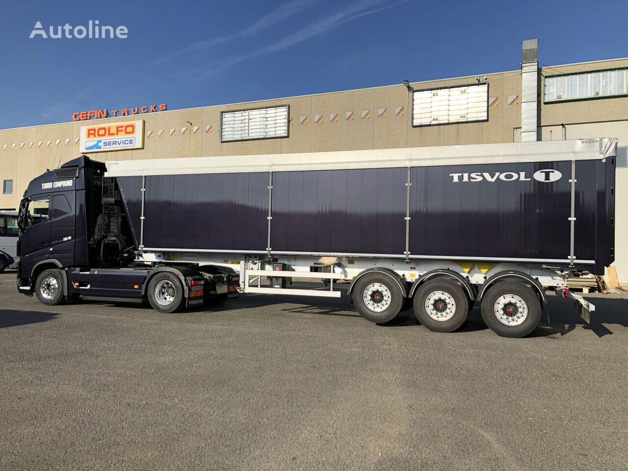 TISVOL CERES 58m3 tipper semi-trailer