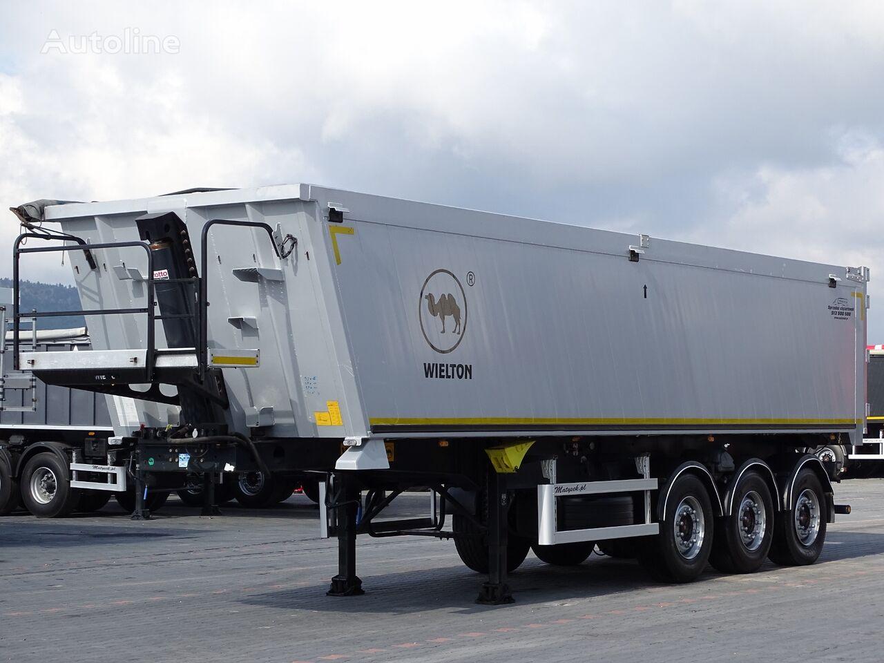 WIELTON TIPPER 38 M3 / FLAP-DOORS / LIFTED AXLE /  tipper semi-trailer