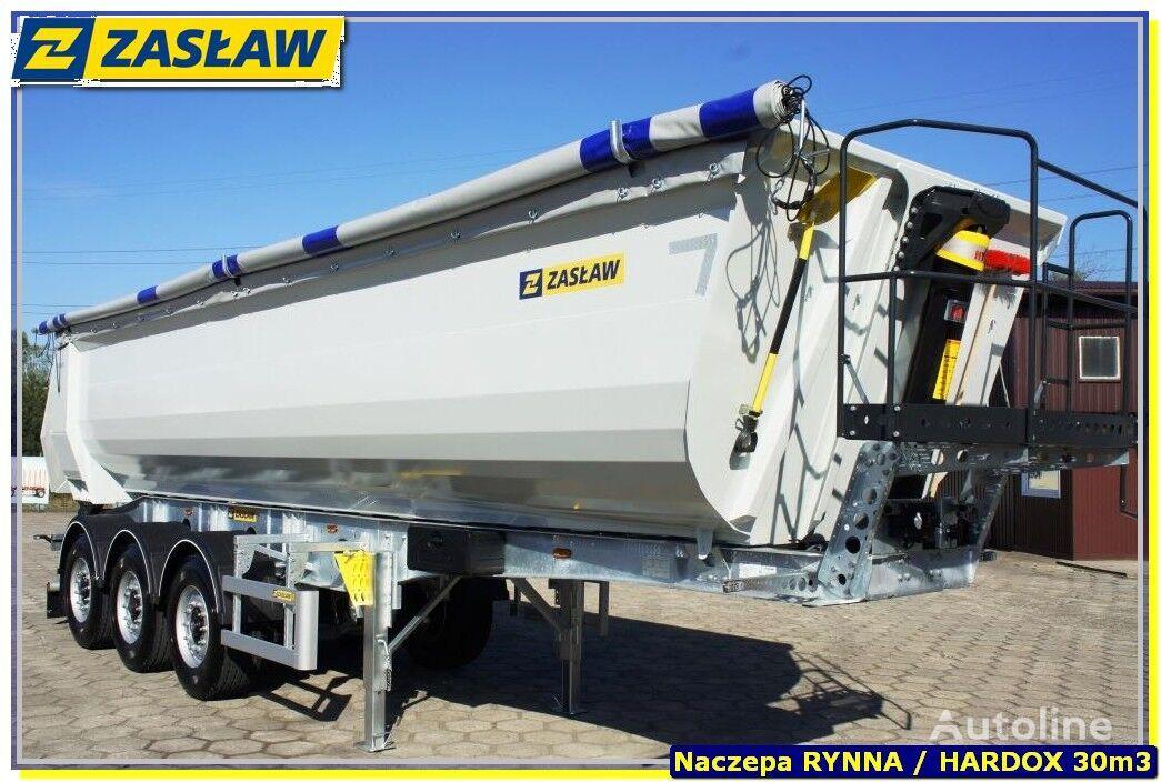 new ZASLAW TRAILIS 30 m³ KippAuflieger RinnE - HARDOX 750 / Stark fur Gerole !!  tipper semi-trailer