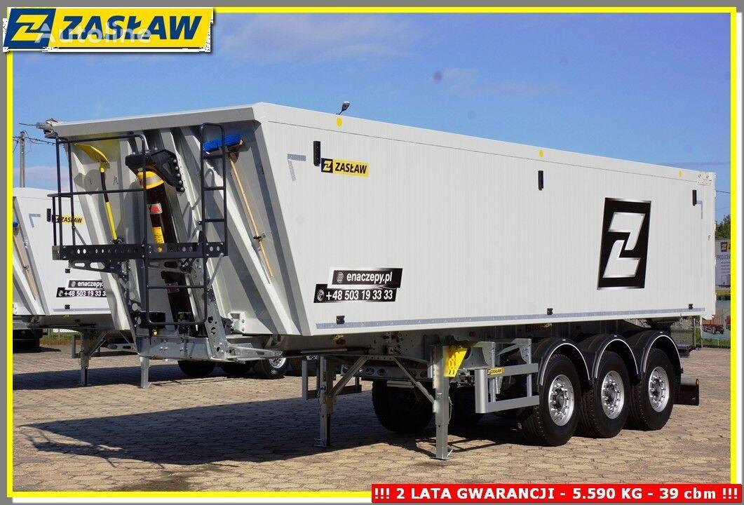 new ZASŁAW 43 m³ LEICHTE Kipper AluMulde mit Kombi-Turen FERTIGE !!! tipper semi-trailer