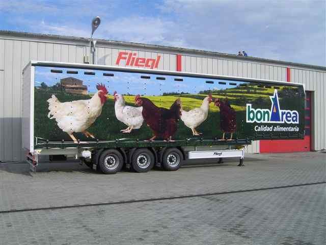 new FLIEGL SDS 350 Geflugel transport of poultry semi-trailer