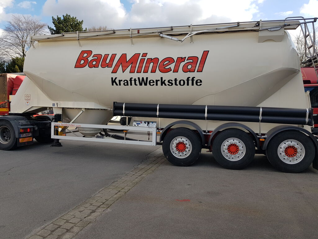 FELDBINDER Baustoffsilo liegend silo tank trailer
