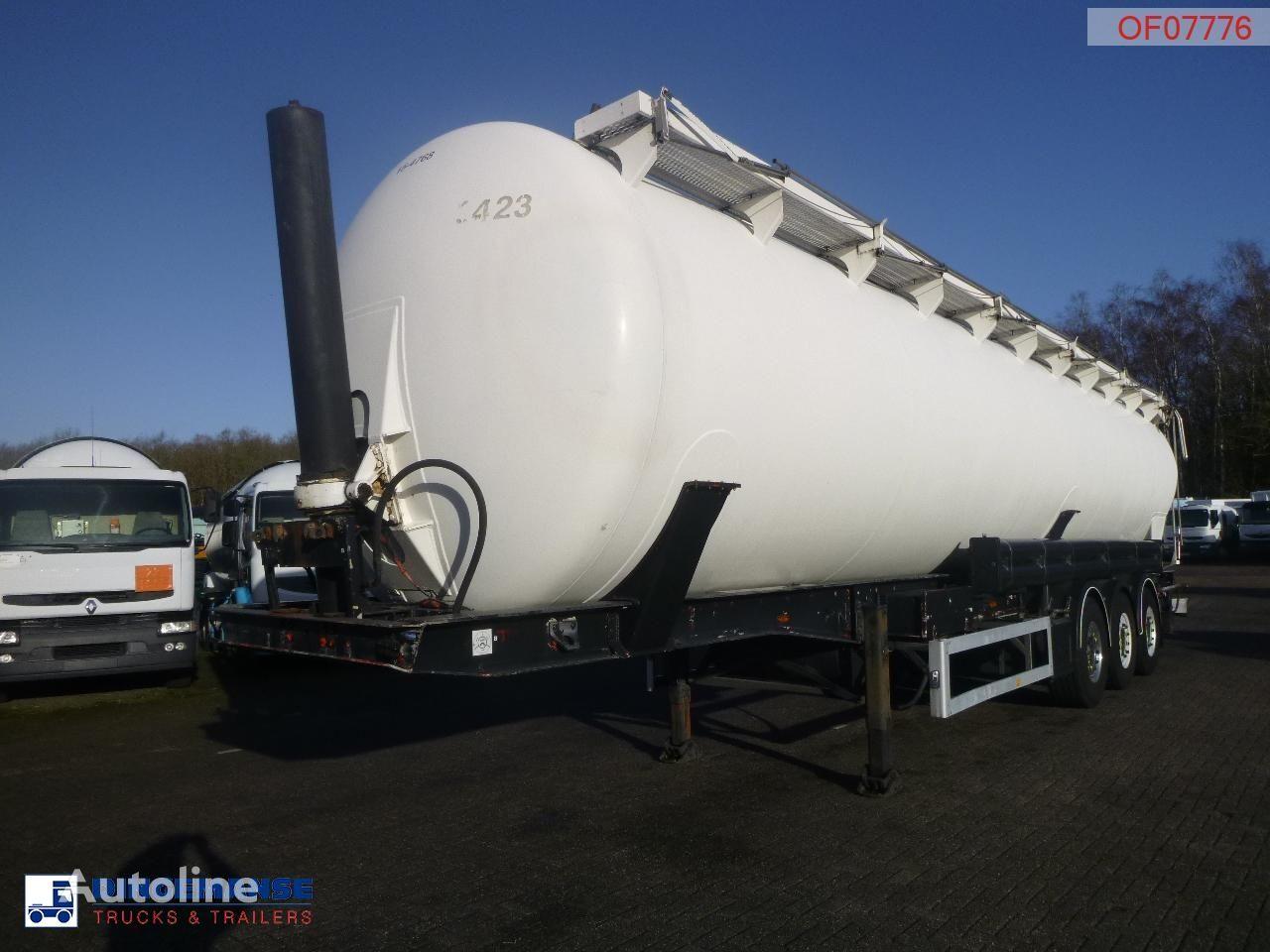 FELDBINDER Powder tank alu 63 m3 (tipping) silo tank trailer
