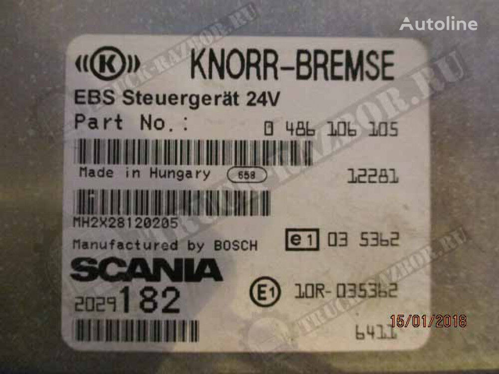 KNORR-BREMSE EBS modulator for SCANIA tractor unit
