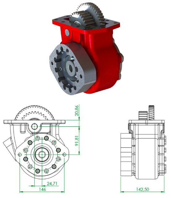 new OPTIMA Allison type PTO for tractor unit