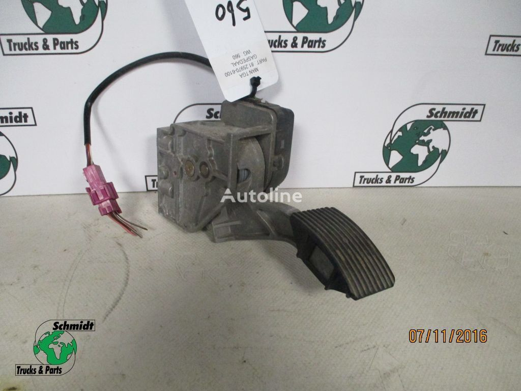 MAN accelerator pedal for MAN tractor unit