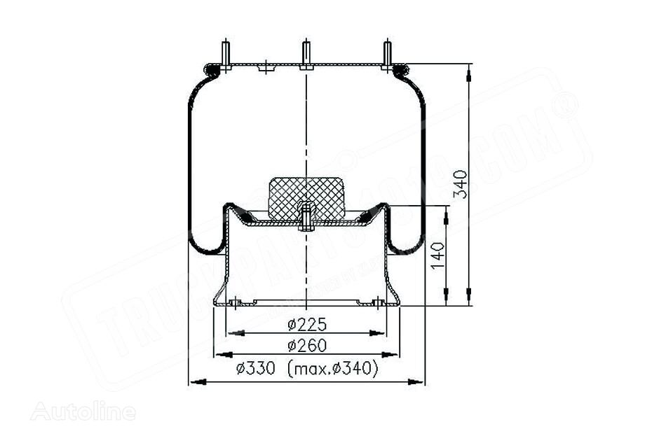 new DT (1384273) air spring for truck