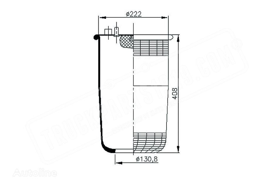 new DT (A3633280001) air spring for truck
