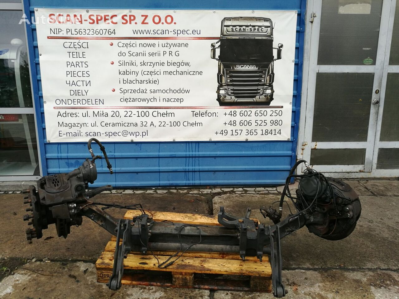 SCANIA (Lowdeck / Mega) axle for SCANIA PRG tractor unit