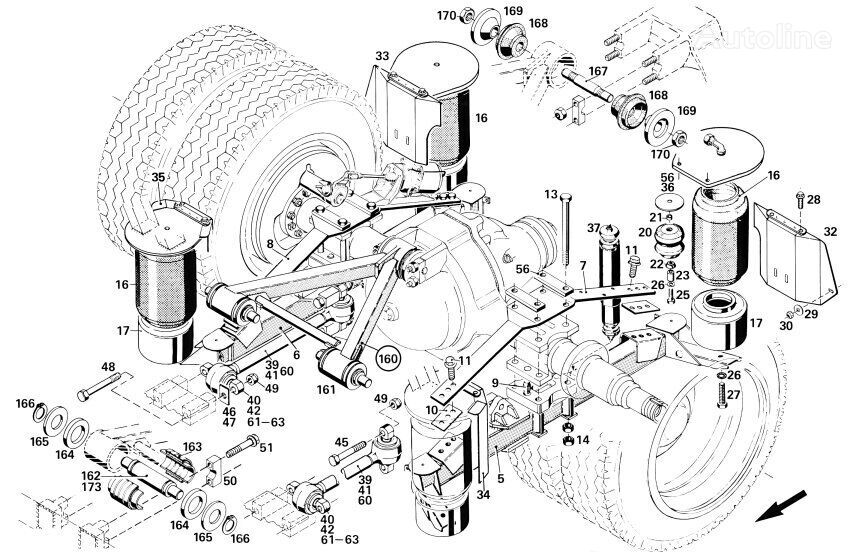 SETRA Hinter 3er Reihe axle for SETRA 3er Reihe GT/ GTHD/ NF/ UL/ HDH bus