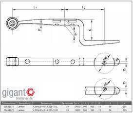new GIGANT 639071,639072.639063. beam spring for KÖGEL semi-trailer