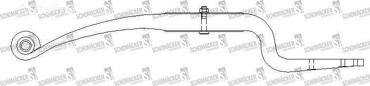 new SCHMITZ CARGOBULL FAG0410190 beam spring for semi-trailer