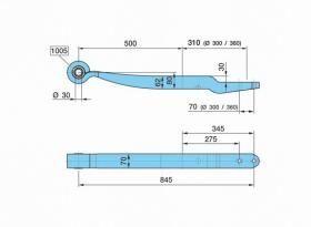 new BPW ECO Plus 0508214020, 14020,0508214022, 14022 beam spring for BPW semi-trailer