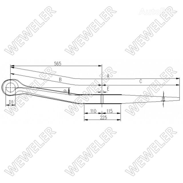 SCHMITZ CARGOBULL 26610400 beam spring for SCHMITZ CARGOBULL semi-trailer