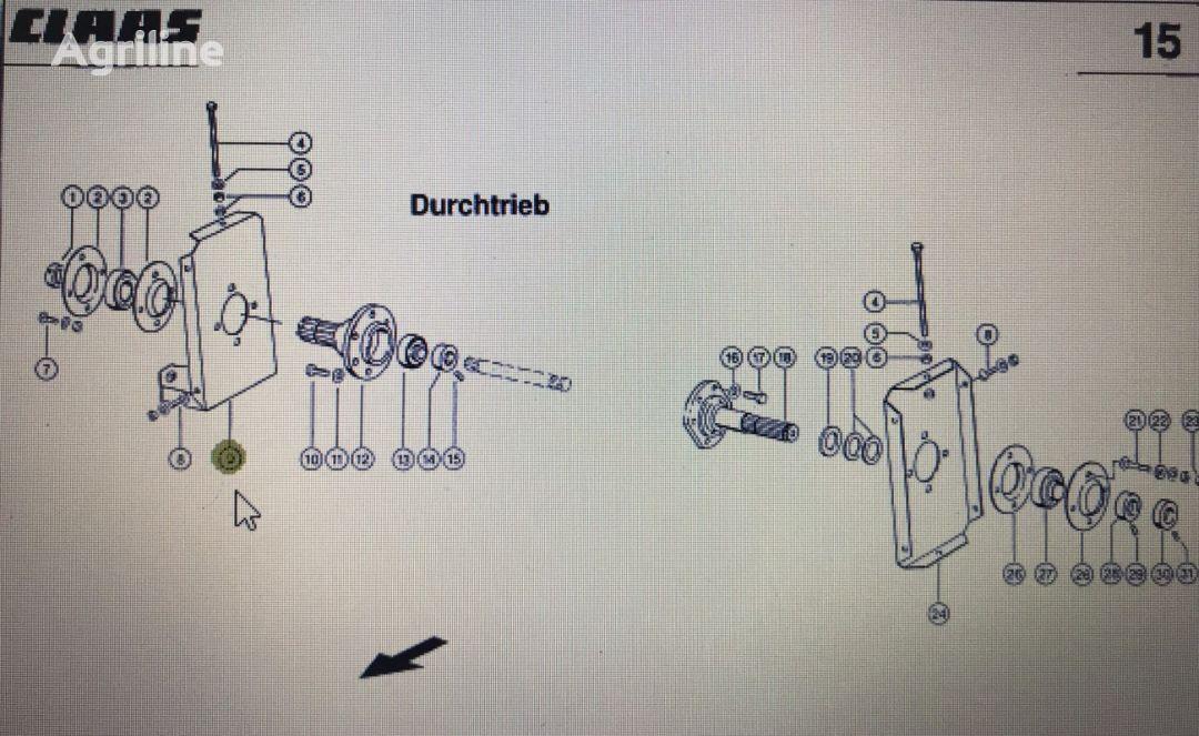 blacha łożyska prawa (00 0630 712 2) bearing for CLAAS V900-V700  grain header