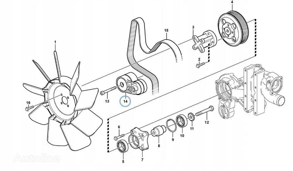 new belt tensioner for VOLVO BL61 , BL71 backhoe loader